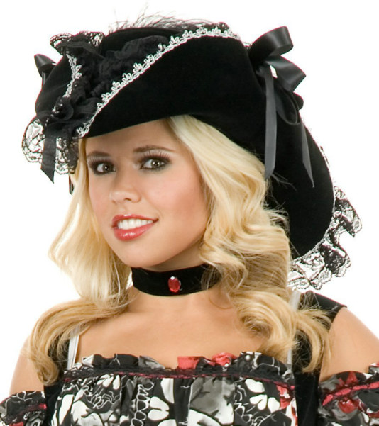 Adult Lacey Pirate Hat