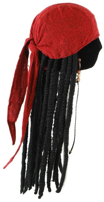 Pirates of the Caribbean - Jack Sparrow Adult Scarf with Dreads