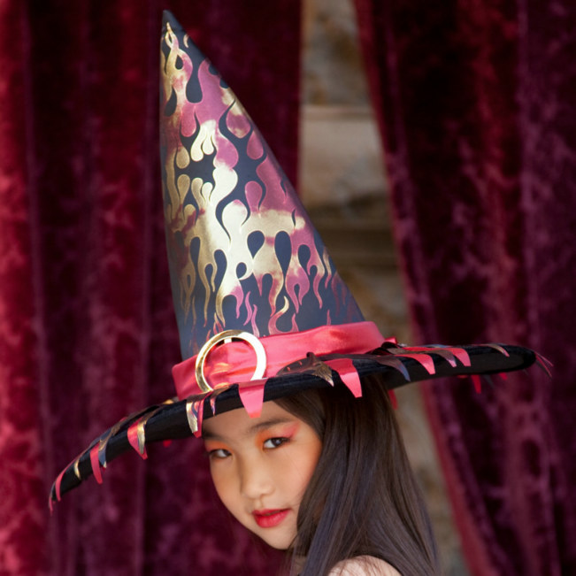 Flame Witch Child Hat