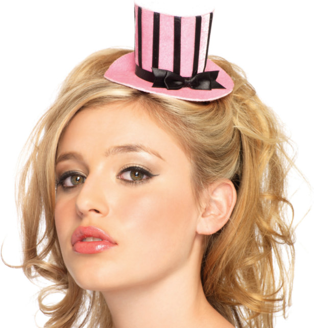 Mini Top Hat (Light Pink) Adult
