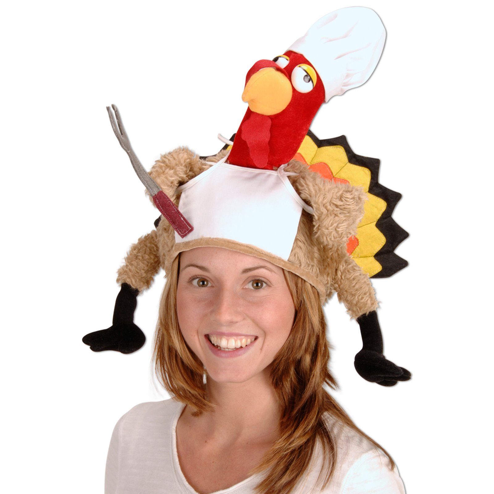 Plush Chef Turkey Hat Adult