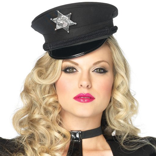 Deluxe Mini Police Hat (Adult)