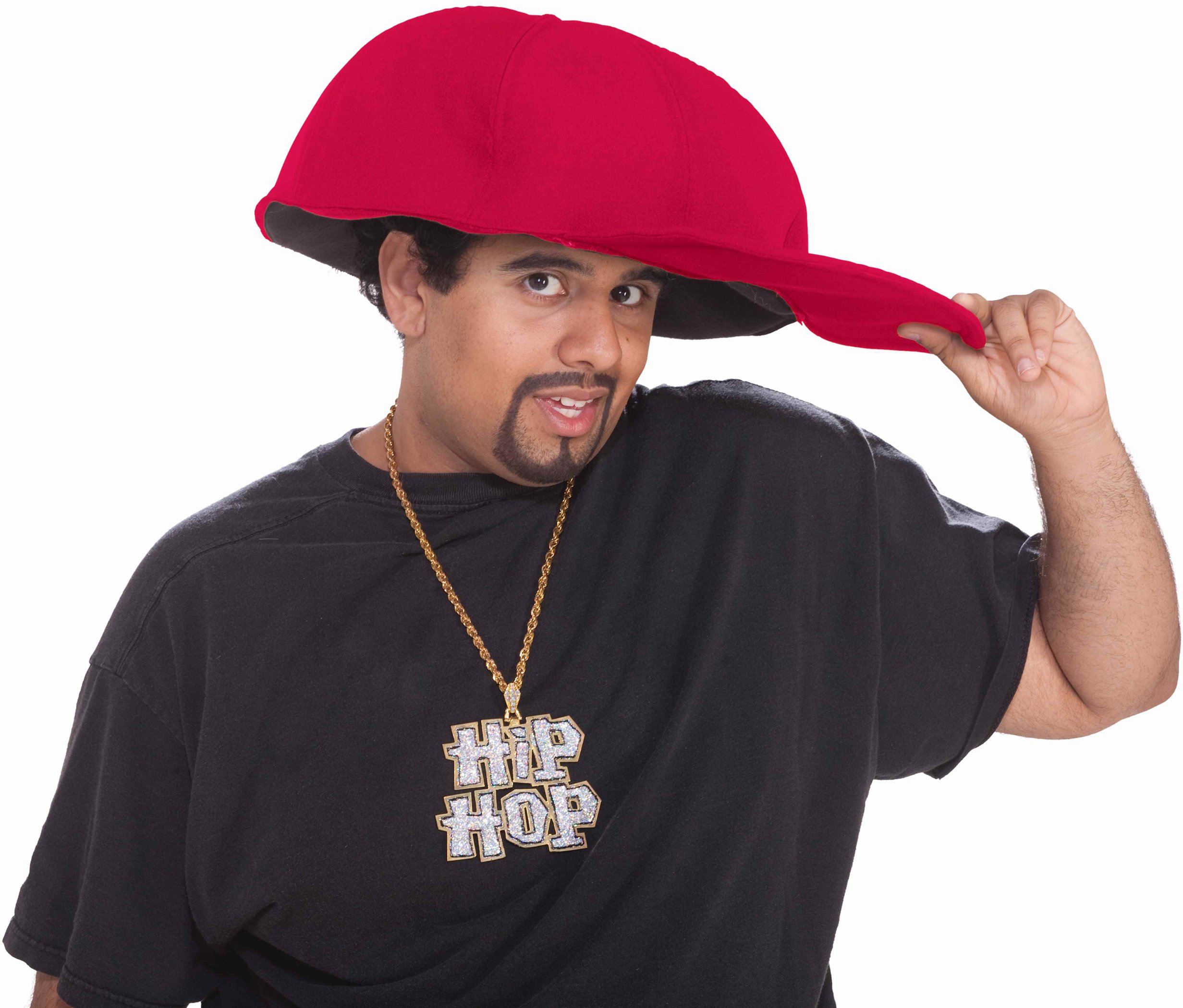 Jumbo Hip Hop Hat Red Adult