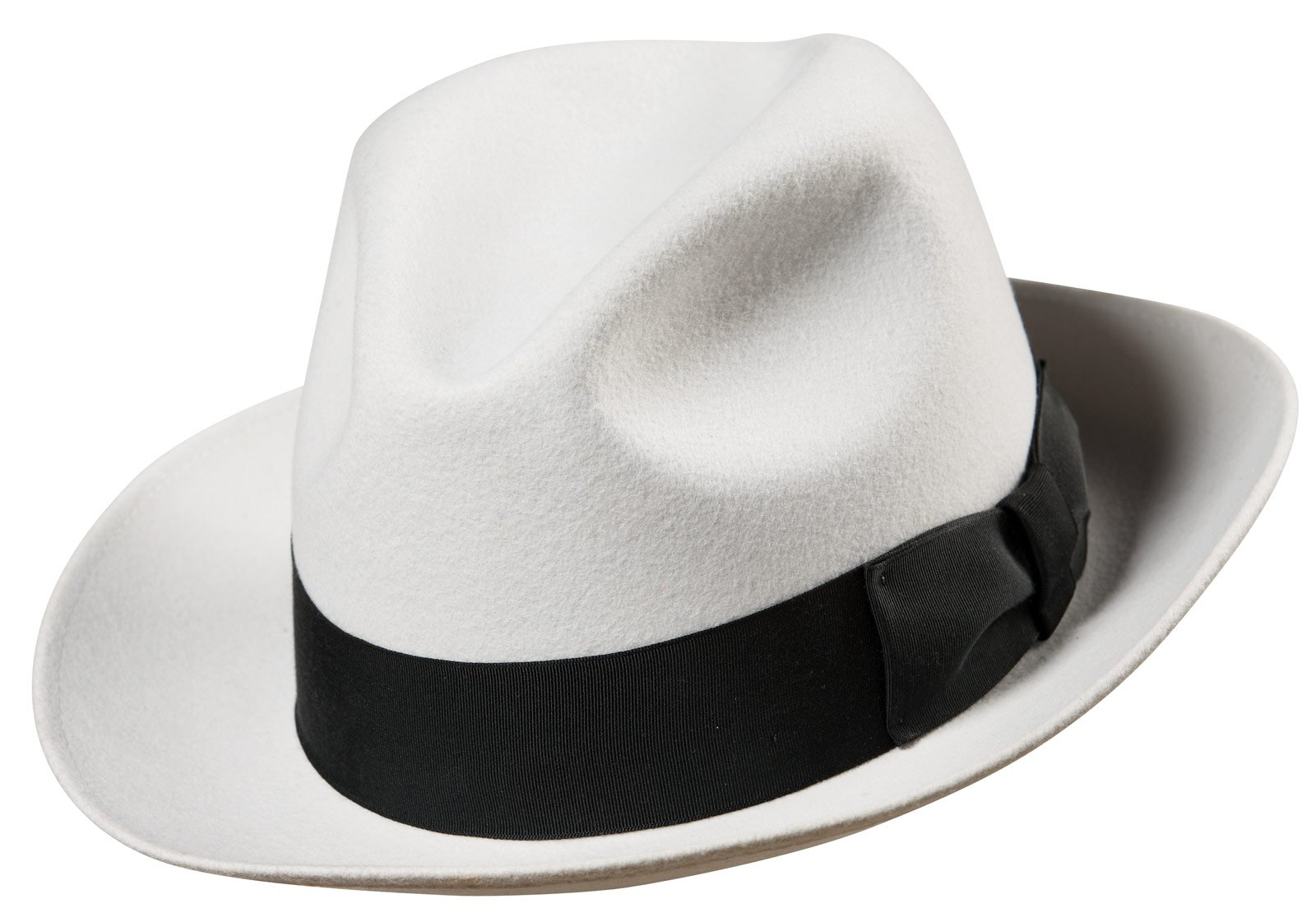 White Gangster Fedora Adult Hat
