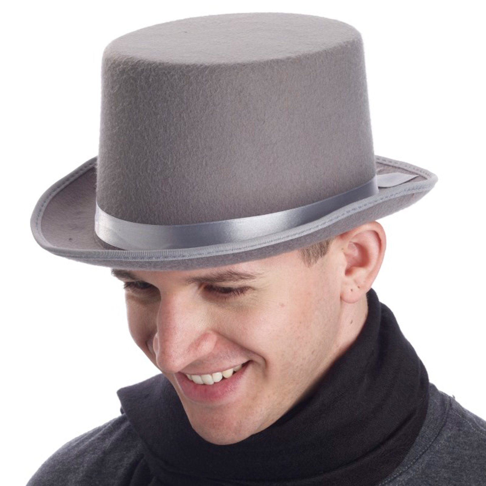 Super Deluxe Gray Top Hat (Adult)