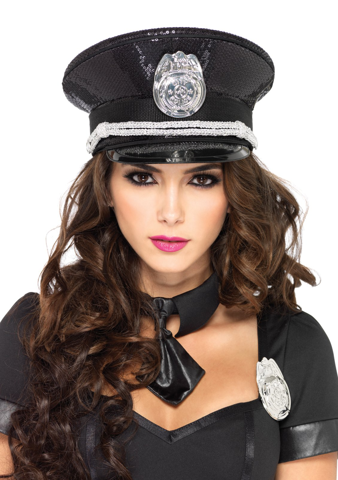 Sequin Cop Hat (Adult)