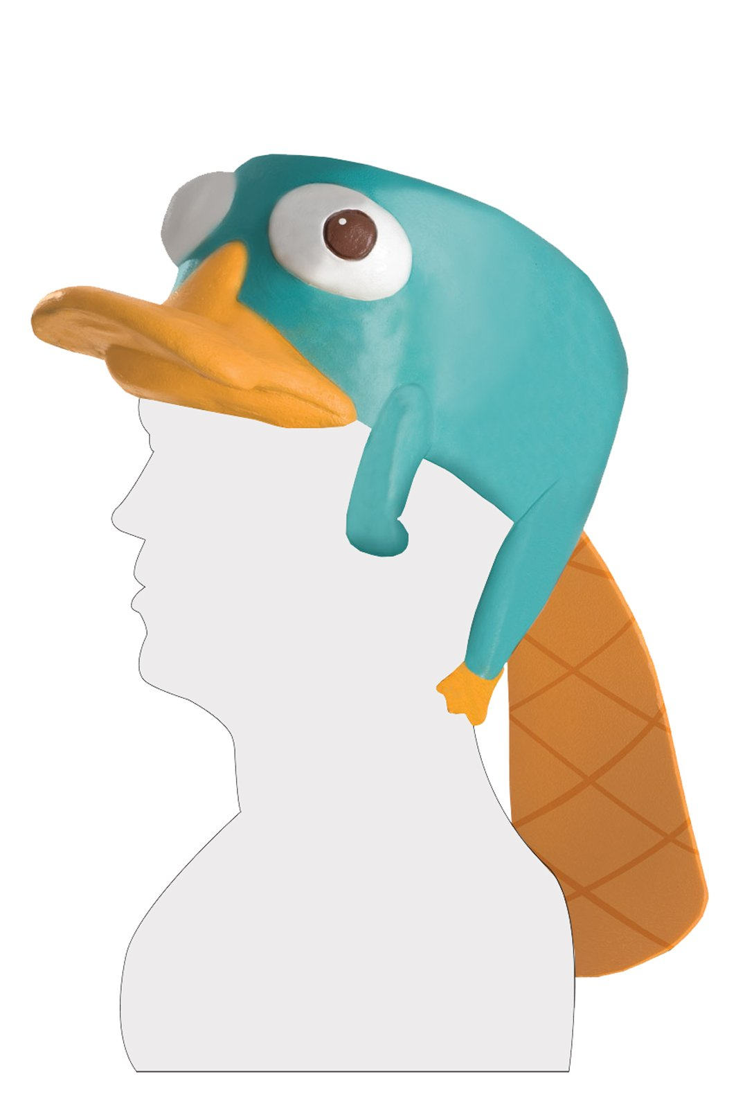 Phineas and Ferb Perry the Platypus Latex Headpiece Adult