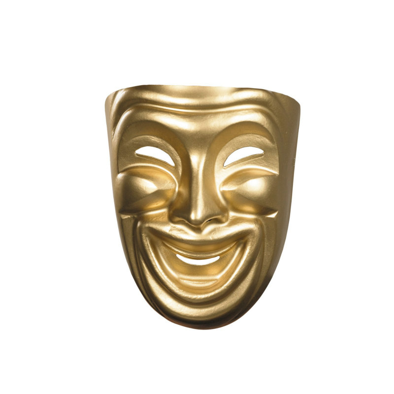 Gold Comedy Mask