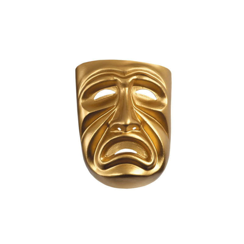 Gold Tragedy Mask - Click Image to Close