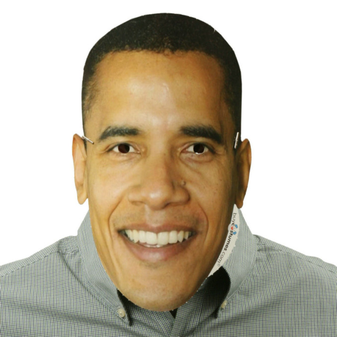 Barack Obama Paper Mask - Click Image to Close