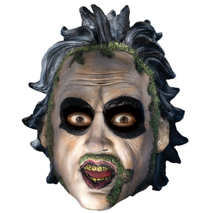 Beetlejuice 3/4 Vinyl Mask with Sculpted Hair