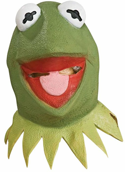 The Muppets Kermit Deluxe Overhead Latex Mask Adult