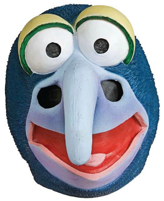 The Muppets Gonzo Deluxe Overhead Latex Mask Adult