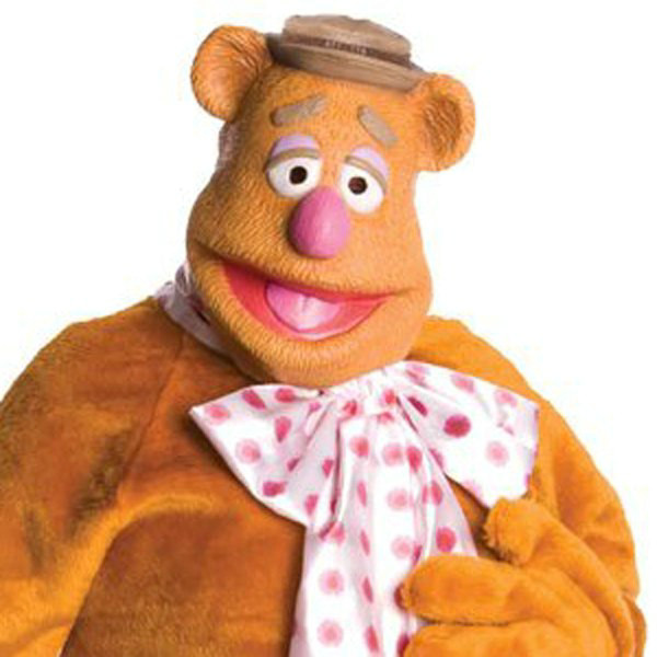The Muppets Fozzie Bear Deluxe Overhead Latex Mask Adult