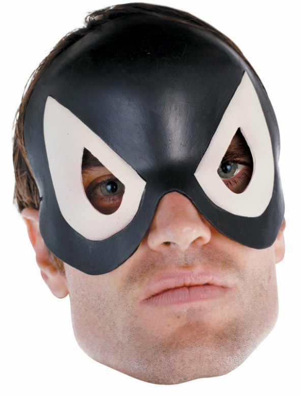 Black-Suited Spider Man Adult Vinyl 1/4 Mask