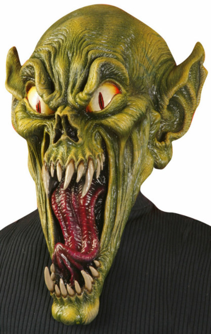 Green Gremlin Monster Adult Mask