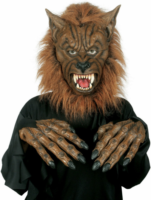 Werewolf Mask with Hands Adult