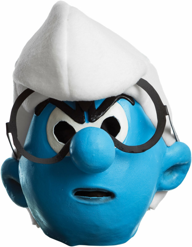 The Smurfs - Brainy Smurf 3/4 Adult Mask