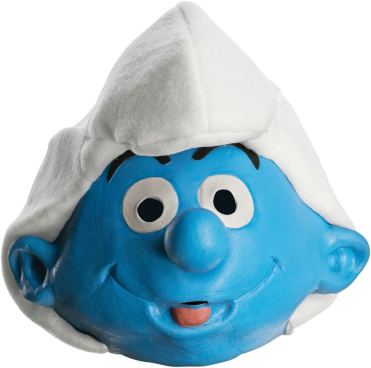 The Smurfs - Deluxe Jokey Smurf Adult Mask