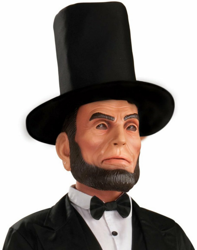 Abraham Lincoln Latex Adult Mask