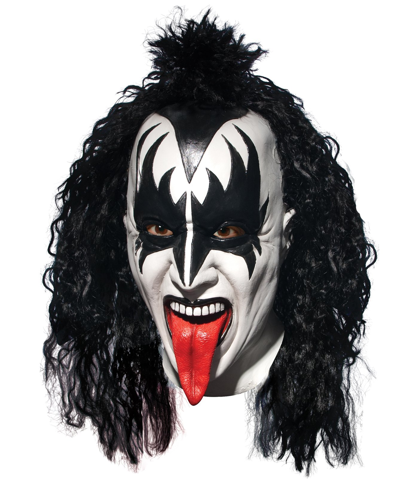 KISS - Demon Latex Full Mask With Hair Adult