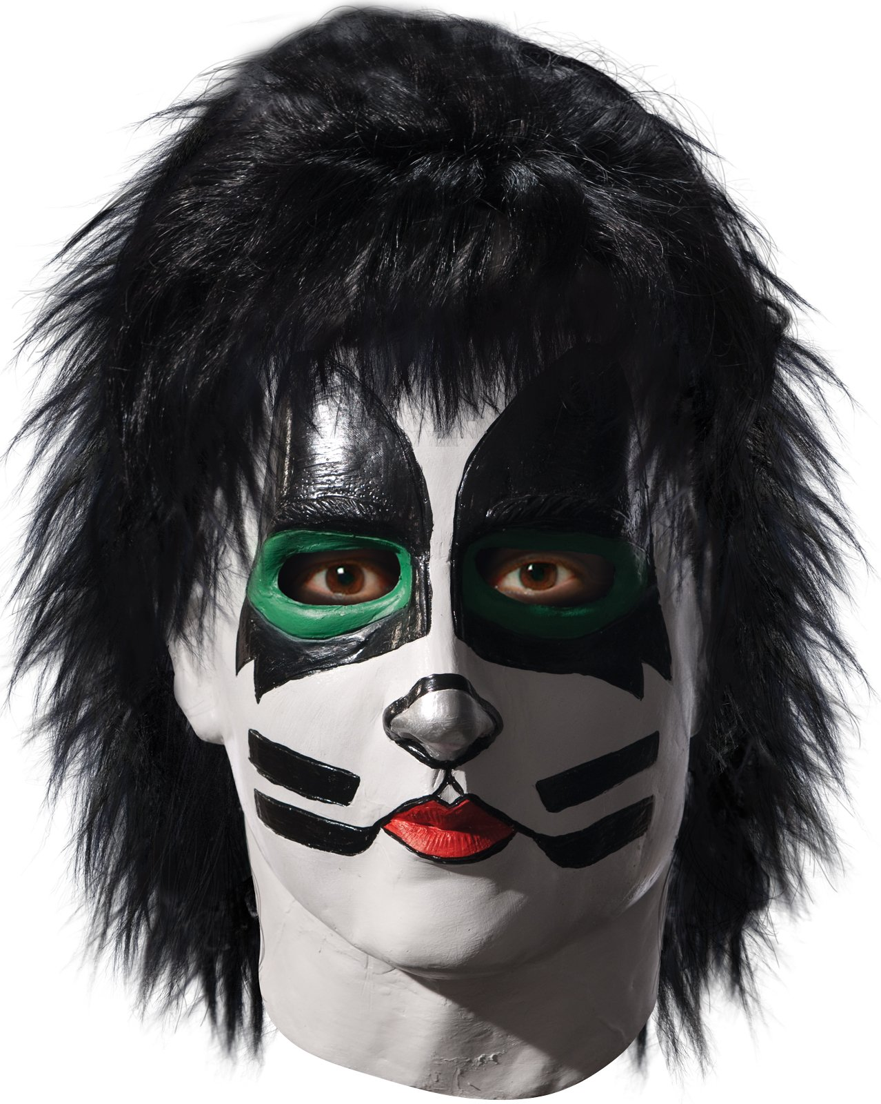 KISS - Catman Deluxe Latex Full Mask With Hair (Adult)