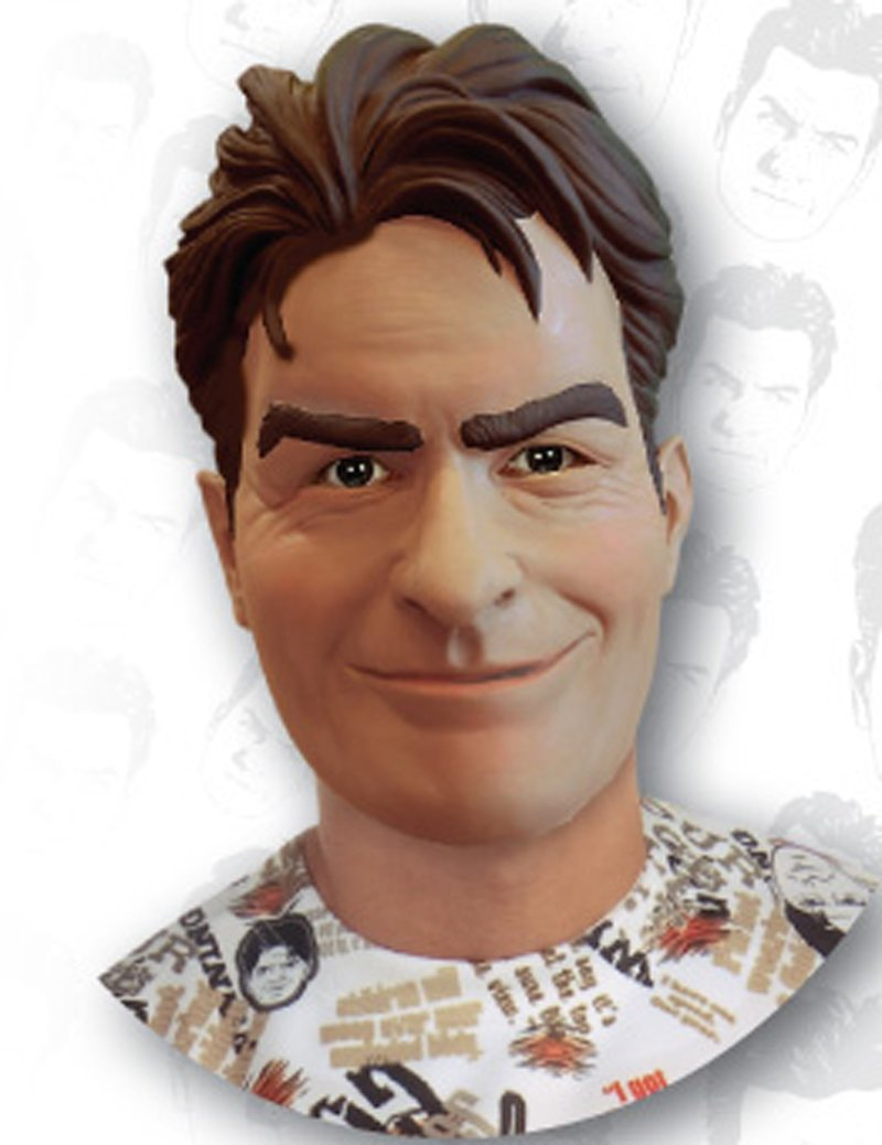 Charlie Sheen Deluxe Latex Mask (Adult)