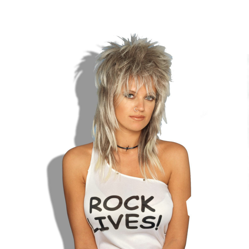 Rocker Wig (Blonde) Unisex Adult