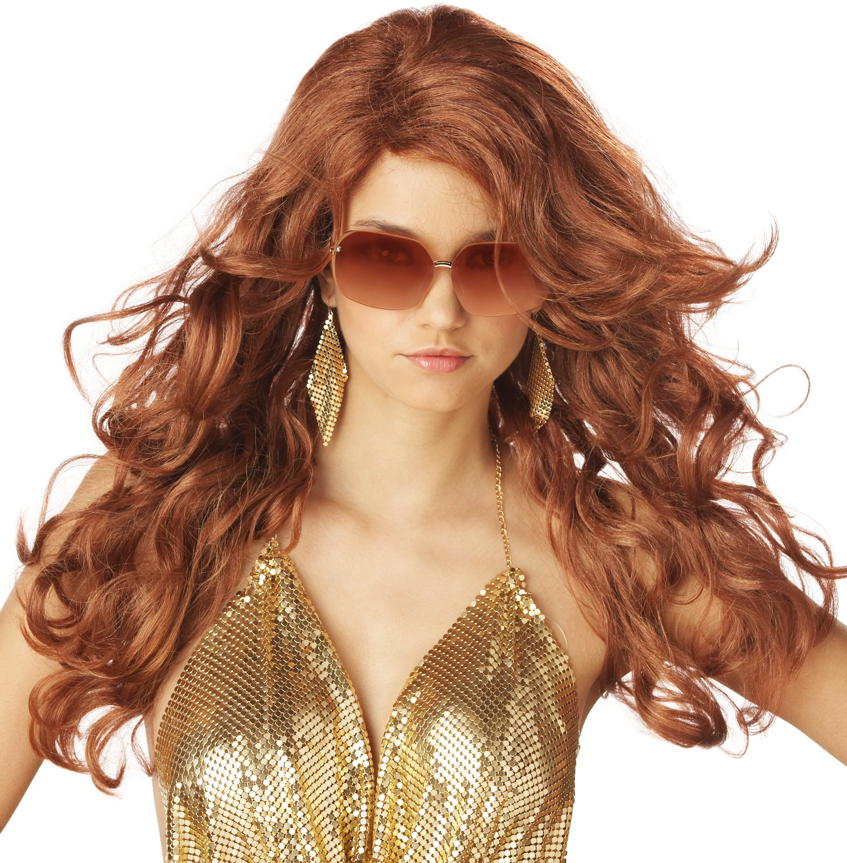 Super Sexy Super Model (Auburn) Adult Wig