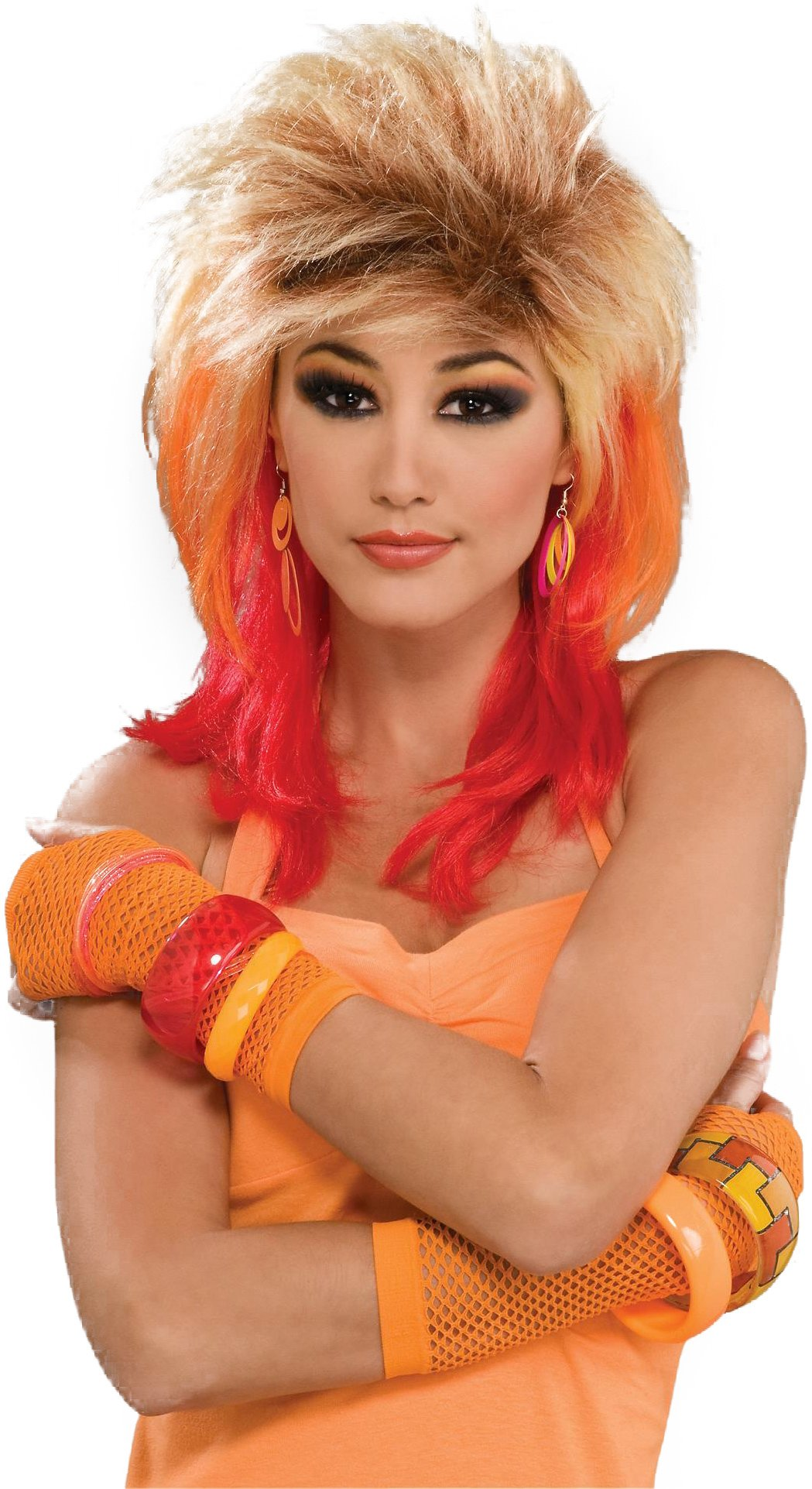 80's Glam Wig (Multi-Colored) Adult