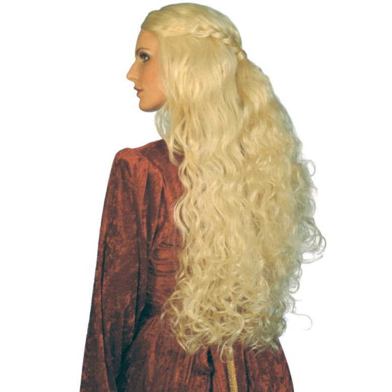 Medieval Long Blonde Wig Adult
