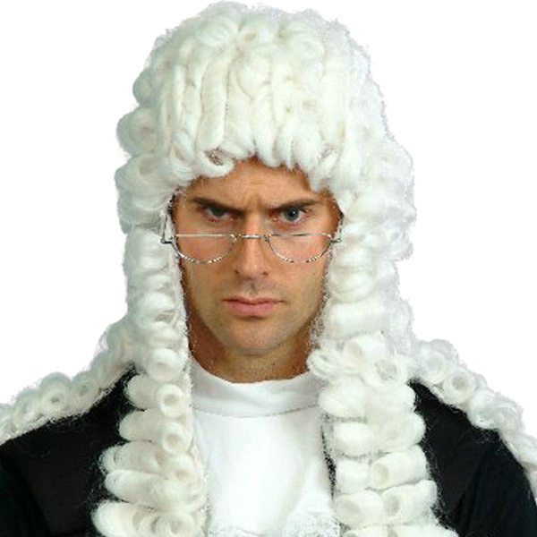 Judges Wig White Adult