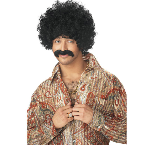 70's Pornstar Wig and Moustache