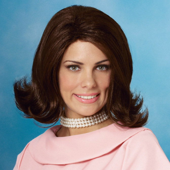 Classic 50s Flip Wig (Brown) Adult