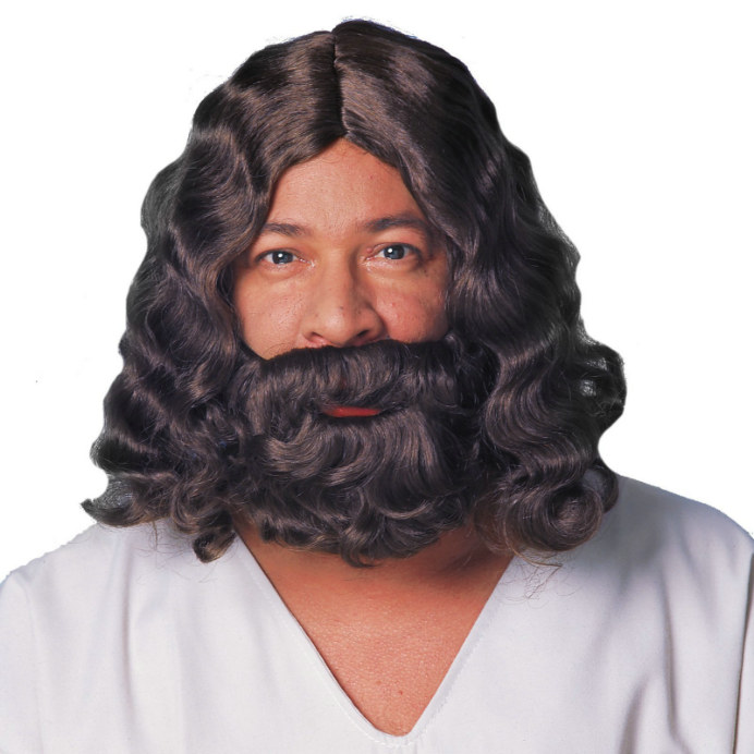 Jesus Beard and Wig - Brown