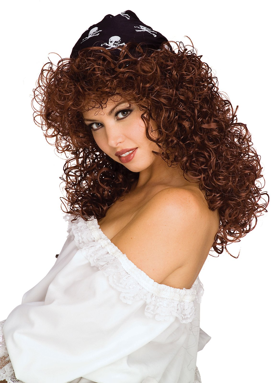 Sexy Pirate Brown Adult Wig
