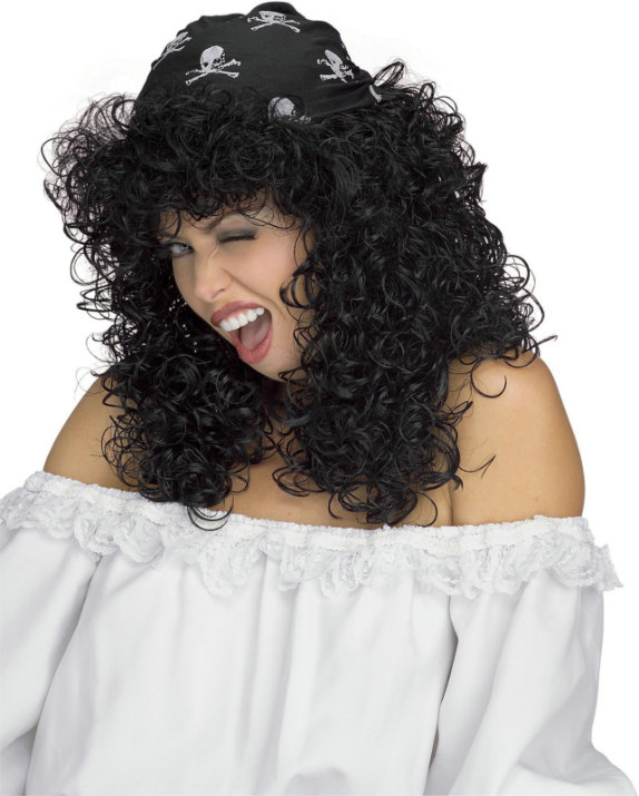 Sexy Pirate Black Adult Wig
