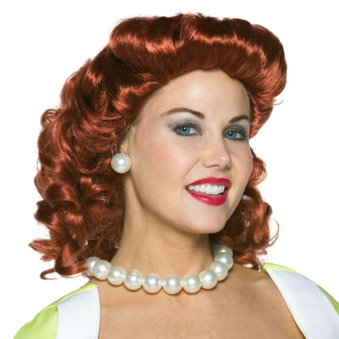 Vintage Housewife Wig - Red