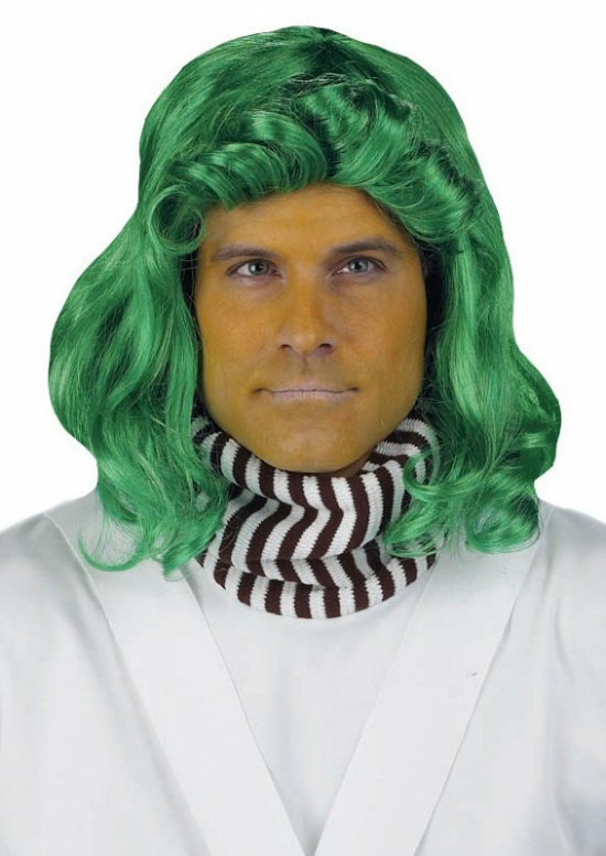 Green Candy Factory Worker Wig