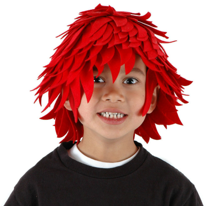 Red Fireball Wig