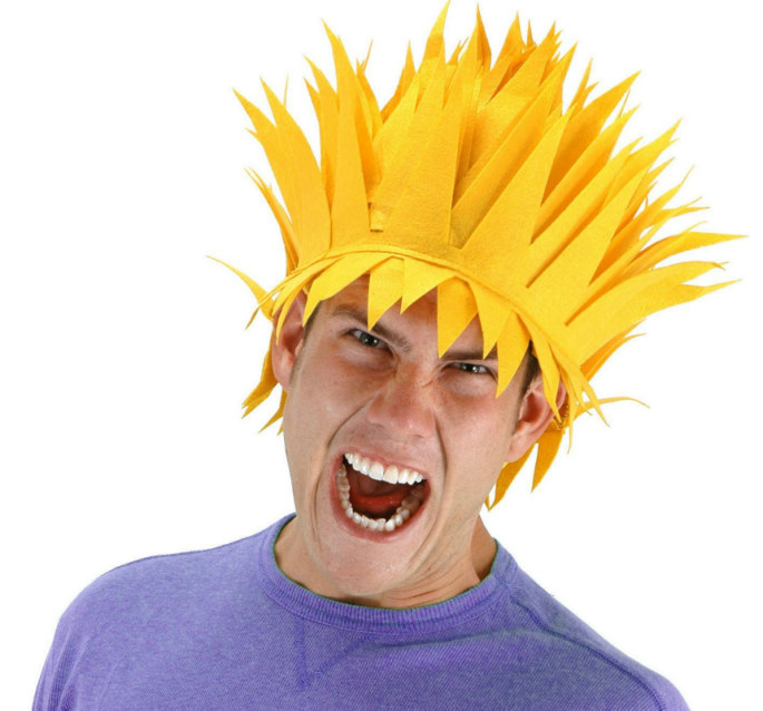 Yellow Lightning Bolt Wig