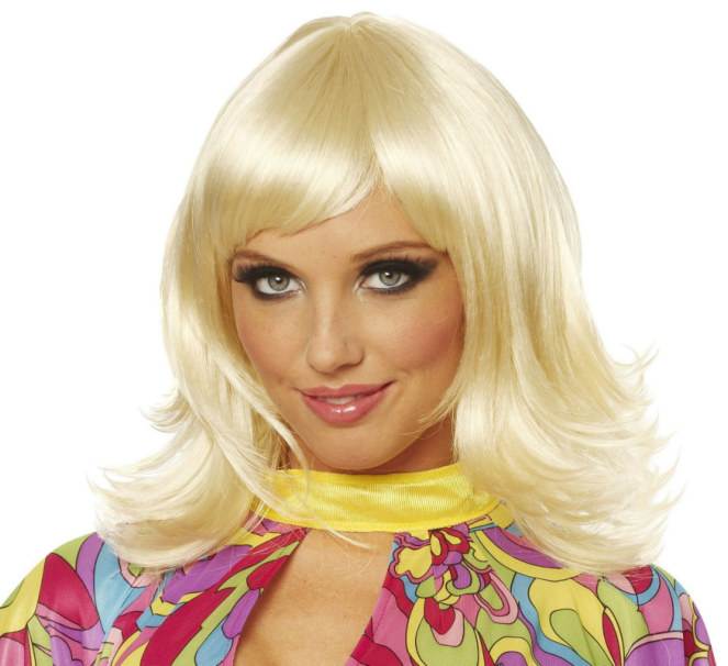 70's Short Feathered Wig