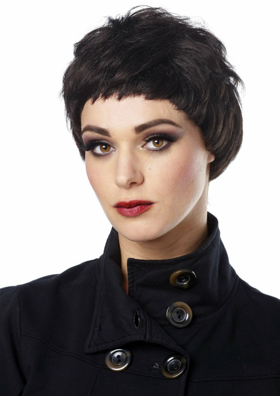Black Pixie Wig Adult