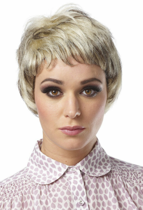 Mixed Blonde Pixie Wig Adult