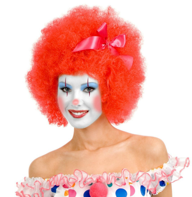 Red Clown Adult Wig - Click Image to Close