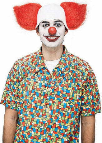 Hairiscary Clown Wig Adult Circus Costume