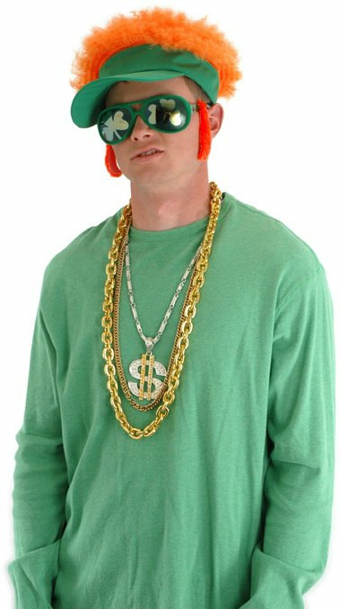 Orange Afro Shamrock Visor Adult - Click Image to Close
