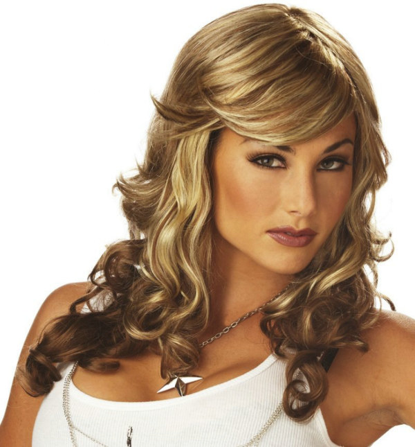 Rock Vixen (Blonde/Brown) Adult Wig