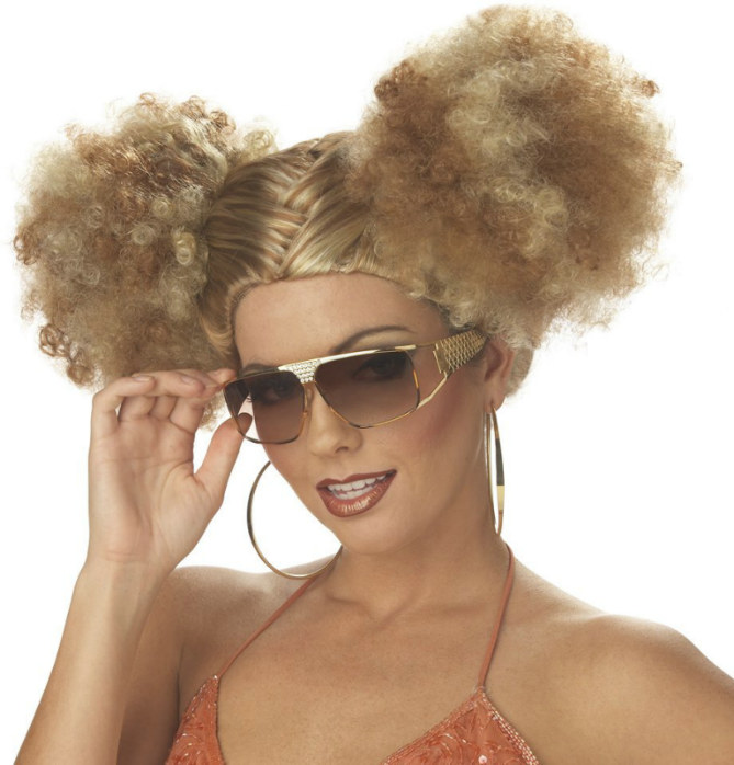 Discopuffs (Blonde/Brown) Adult Wig