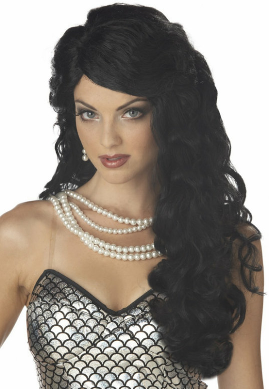 Mermaid (Black) Adult Wig